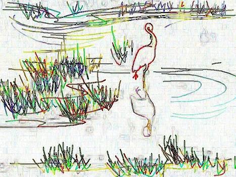 Egret Dancing by Wide Awake Arts