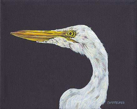 Egret named 'Boots' by Dawn Pfeufer