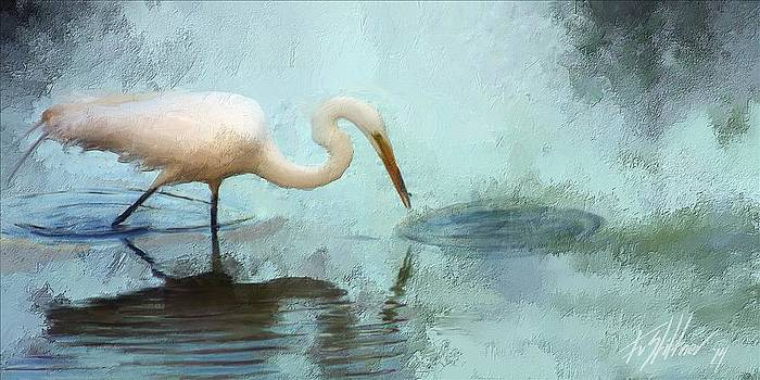 Egret Study by Forest Stiltner
