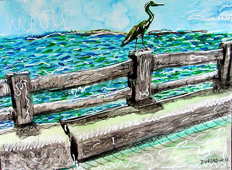 Egret on the Bridge by Douglas Durand