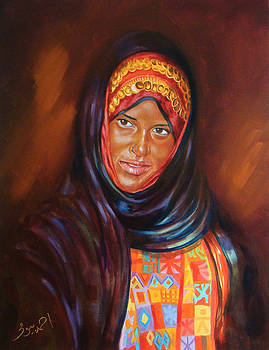 Egyptian Nubian girl by Ahmed Bayomi