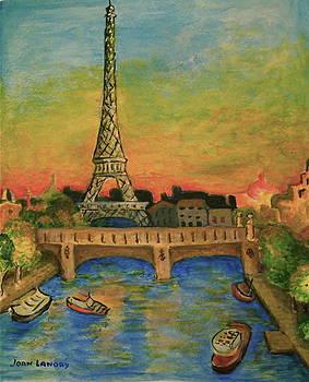 Eifel Tower-Dawn by Joan Landry
