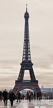 Eiffel Tower in a Cloudy Winter Day by Radu Razvan