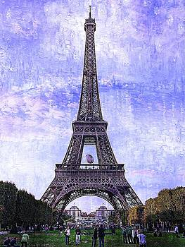 Eiffel Tower Paris by Kathy Churchman