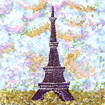 Eiffel Tower Pointillism by Kristie Hubler