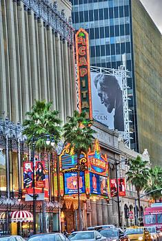 David Zanzinger - El Capitan Marquee Neon Lights Lincoln Billboard Hollywood CA