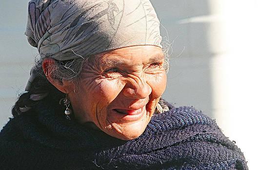 Elderly Andean Lady by Hugh Peralta
