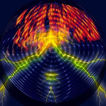 Electric Inferno Globe by Jo Nathon Dutton