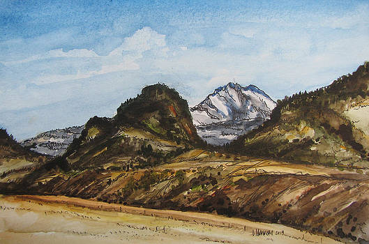 Electric Peak from Gramps porch by Les Herman