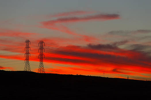 Electric Towers Altamont Pass CA by Troy Montemayor