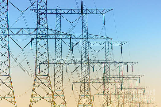 Nick  Biemans - Electricity pylons standing in a row