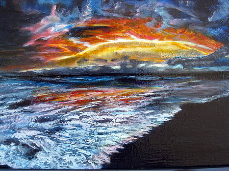 Electrifying Sunset by LaVonne Hand