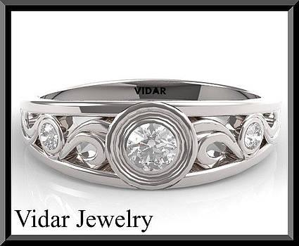 Elegant 14K White Gold Diamond Woman Wedding Ring by Roi Avidar