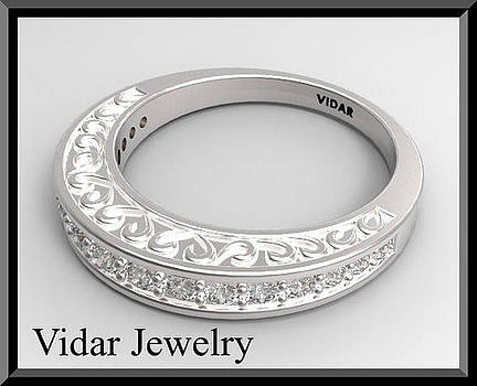 Elegant And Classic 14K White Gold Diamond Woman Wedding Ring by Roi Avidar