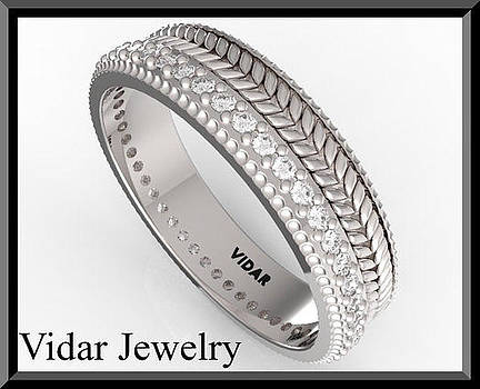 Elegant Diamond Eternity 14k White Gold Woman Wedding Ring by Roi Avidar