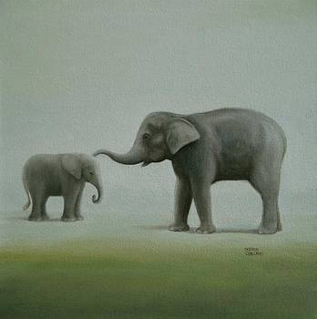 Elephant Art    Just Mom and Me  by Sharon Challand