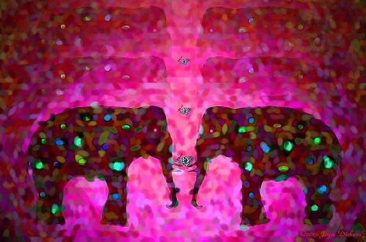 Joyce Dickens - Elephant Impressions in Magenta