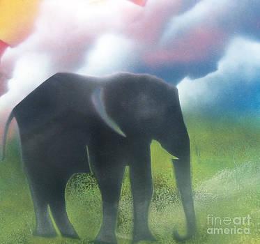 Elephant in the jungle by William  Dorsett