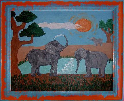 Elephant Paradise  by Yvonne  Kroupa