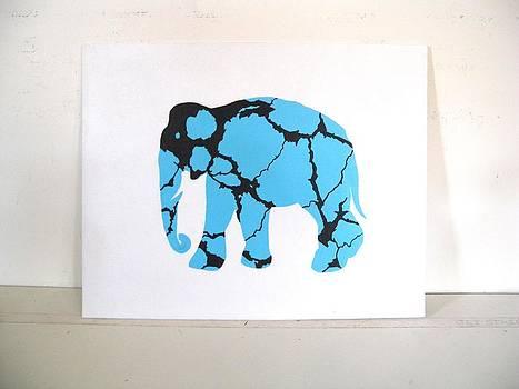 Elephant/Turquoise by Paul Ferrara