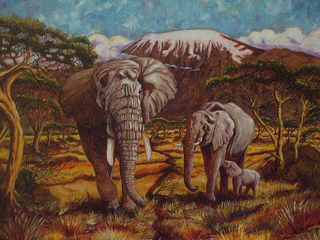 Elephants and Kilimanjaro by Paris Wyatt Llanso