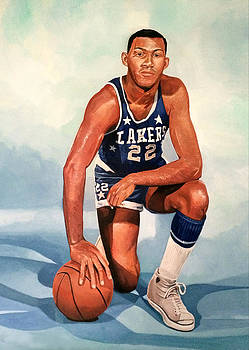 Elgin Baylor - Los Angeles Lakers by Michael  Pattison