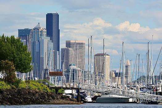 Elliott Bay Marina - Seattle by Gayle Swigart
