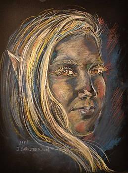 Elven Portrait of Haley by Jennifer Christenson