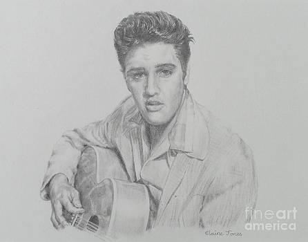 Elvis Presley Pencil Portrait by Elaine Jones