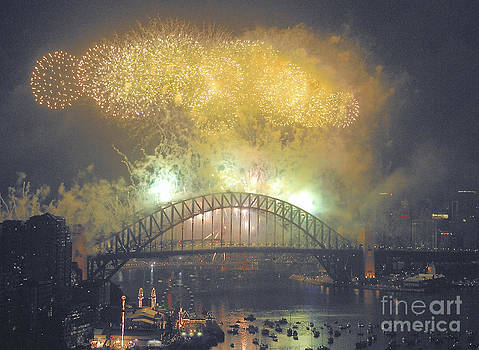 Emerald City - Sydney Harbour New Years Eve Fireworks by Philip Johnson
