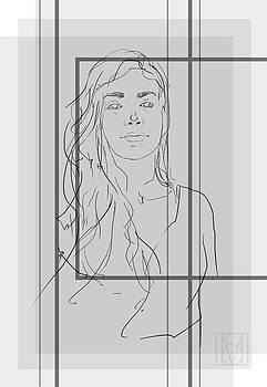 En face sketch by Martin Stratiev