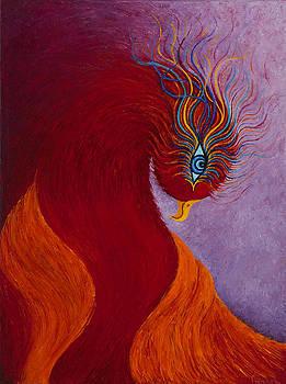 Mythical Phoenix En Fuego by Karen Balon