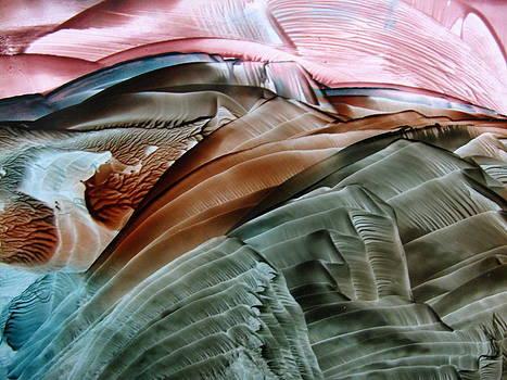 Encaustic Landscape by Dallas  Manicom
