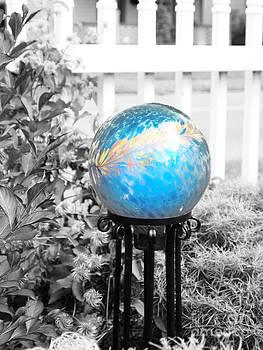 Enchanting  Blue Gazing Ball by Deborah Fay