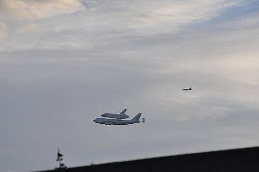 Endeavor Morning Flyover 12 by Russell Libonati