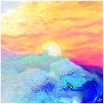 Endless Sea At Sunrise by Mathilde Vhargon