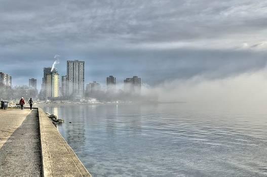 English Bay Beach Fog by Doug Farmer