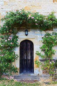James Brunker - English Church Door and Roses