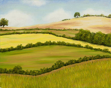 English countryside in the summer by Rebecca Prough