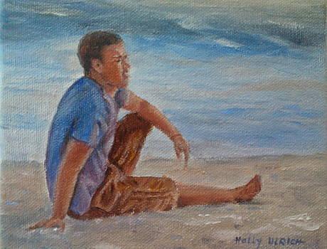Enjoying the Beach by Holly LaDue Ulrich