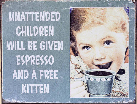 Steven Ralser - espresso and kitten sign