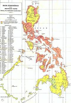 Roberto Prusso - Ethnographic Map Philippines