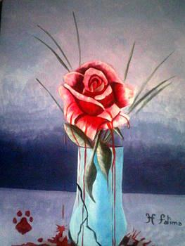 Even flowers cry sometimes by Fatima Hameurlaine