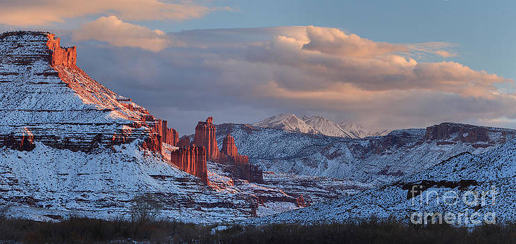 Adam Jewell - Evening At Fisher Towers - Panorama