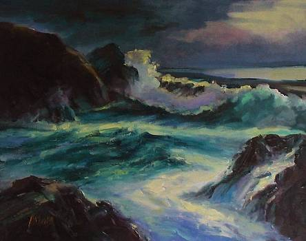 Evening at Paradise Cove by Patricia Seitz