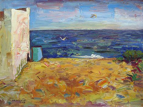 Evening. Black Sea in Sergeevka by Yuri Yudaev