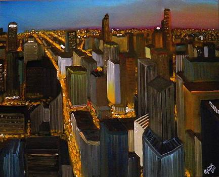 Evening cityscape by Chris Cox