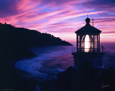 Mick Anderson - Evening Colors at Heceta Head Lighthouse