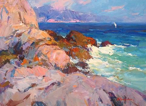 Evening In The Rocks by Alexander  Kriushin