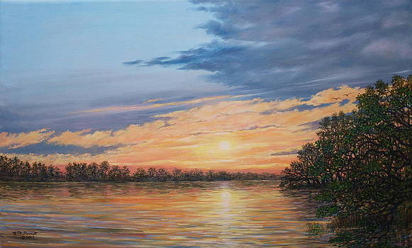 Evening on the River by Kathleen McDermott